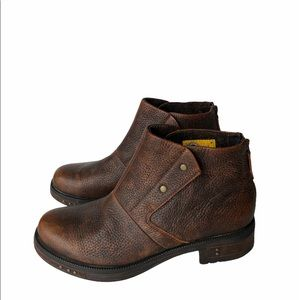 Caterpillar Brown Leather Ankle Boots 10
